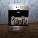 Sparkling Square Earring  New 100% Surgical Steel CE41