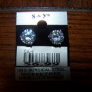 Sparkling Round Earring  New 100% Surgical Steel CE6