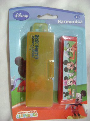 New MICKEY MOUSE CLUBHOUSE HARMONICA+CASE MUSICAL TOY !
