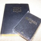 new-KJV Holy Bible Gift Set King James Version Lot of2-full size&pocket black++!