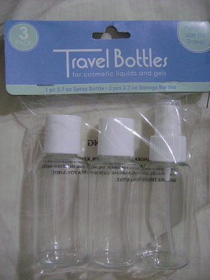 3NEW TRAVEL/TRIAL SIZE BOTTLES HAIR CARE/SPRAY SHAMPOO!