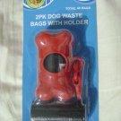 NEW 2-PK-40 DOG-WALK WASTE/POOP BAGS BONE SHAPED KEYCHAIN HOLDER-PET SUPPLIES !!