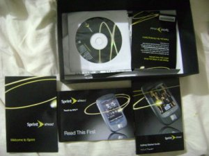 NEW genuine Sprint htc touch cell phone box/manuals/disc BUNDLE/accessories !!!