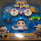 Pop on Pals Figure 2-in-1 Doctor Farmer Fun Toy NEW