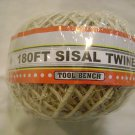 NEW SPOOL 180' SISAL TWINE/ROPE crafts/hobby ties cats!
