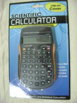 NEW SCIENTIFIC CALCULATOR BATTERY/CLIP COVER/CASE NICE!