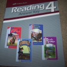 Abeka Grade 4 Reading 4 Book Lot Answer Key & Text Book