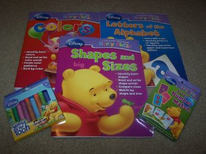 Disney Preschool Workbook Homeschool learn with Pooh