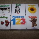 6 Mini Board Book Lot Preschool Homeschool First Words