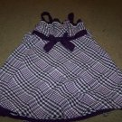 Girls Size 6 Dress by Youngland Super Cute Purple and White