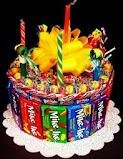 1 Tier Candy Bar Cake
