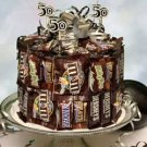 2 Tier Mixed Candy Bar Cake
