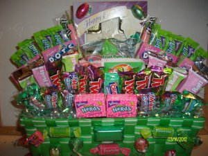 Medium Easter Basket fill with Various Candies