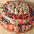 4th of July Single Tier Candy Bar Cake