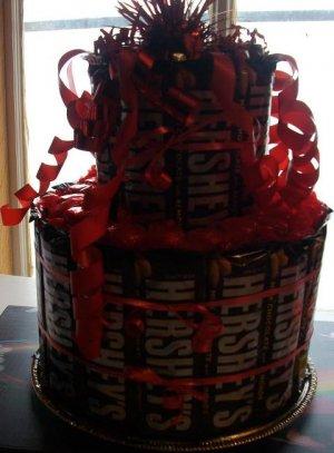 Hershey's Full Size Candy Bar Cake