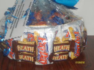 PayDay & Heath Candy Bar Cake