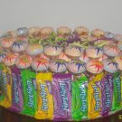 Lollipop and Laffy Taffy  Candy Bar Cake