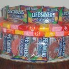 Large Gummy Life Savers & Starburst  Candy Bar Cake
