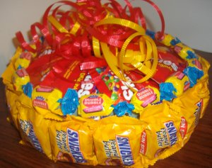 Mixed Candy Bar Cake