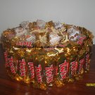 2 Tier Twix Candy Bar Cake
