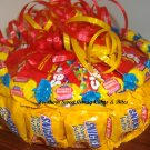 "Single Tier Butterfinger 8"" Round Candy Bar Cake"