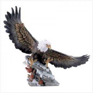 Eagle Soft Landing in Snow Figurine