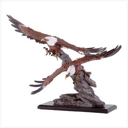 Eagles Soar Over Rocks Statue