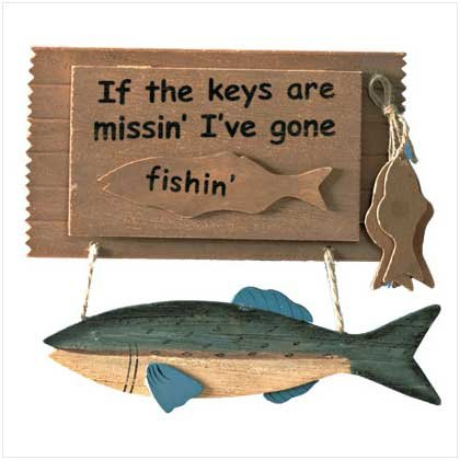 """Gone Fishin'"" Key Holder"