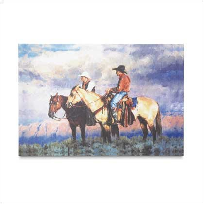 Cowboy Canvas Painting