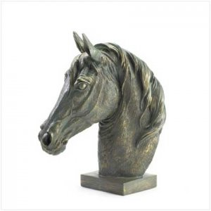 Bronze Finish Horse Head Bust