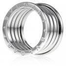 BVLGARI 18K White Gold B.ZERO1 5-Band Ring 54
