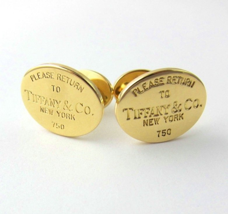 TIFFANY & Co. 18K Gold Return To Tiffany Double-Sided Cufflinks