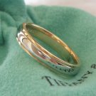 TIFFANY & Co. Platinum 18K Gold 4mm Lucida Wedding Band Ring 7