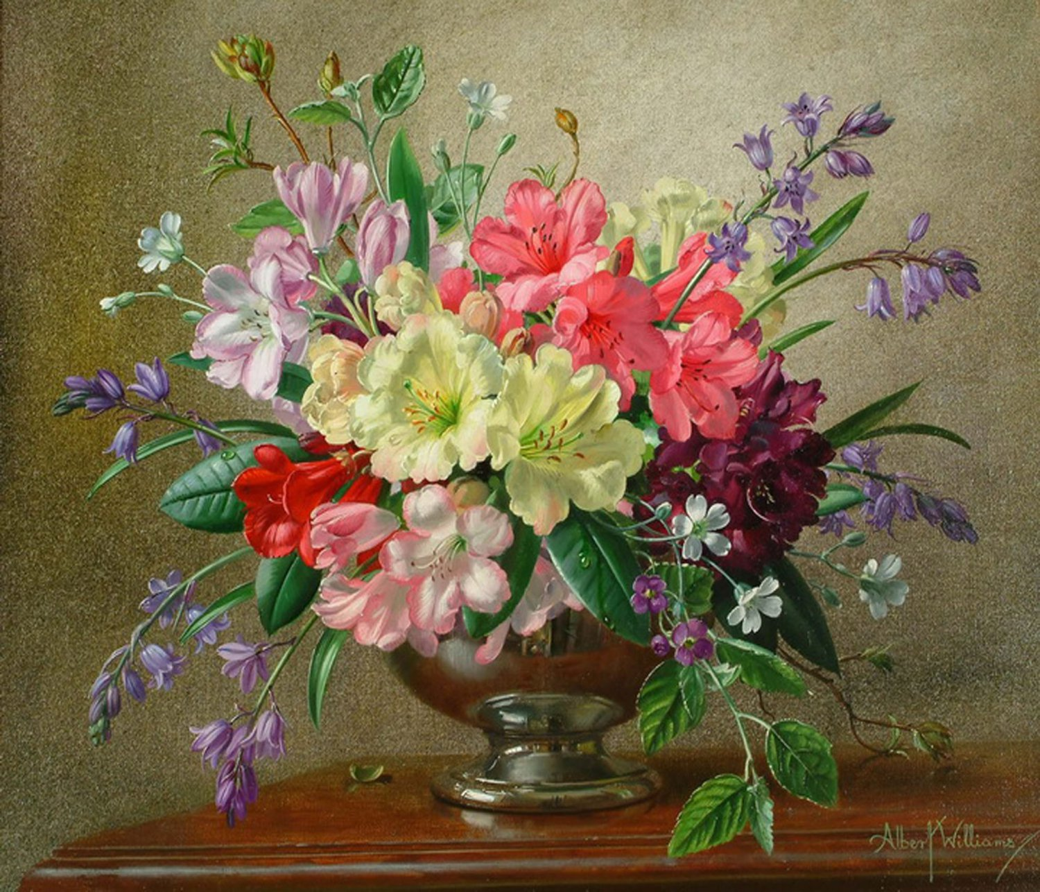 Original wall decor canvas floral oil painting flowers in for Flower paintings on canvas