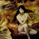 Handmade nude girl canvas art oil painting 02
