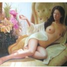 Handmade nude girl canvas art oil painting 10