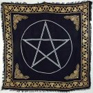 "Gold Bordered Pentagram Altar Cloth 36"" x 36"""