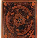 Morrigan Book of Shadows Leather Blank Book Honey Mead Brown