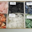 6 Piece untumbled stones set