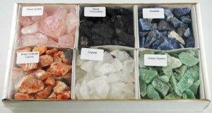 6 Piece untumbled stones set