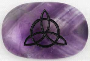 Amethyst Triquetra Gratitude Stone