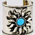 "Jewled Sun Cuff Bracelet 2.5"""