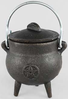 Small Pentagram Cast Iron Cauldron