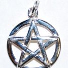 Raised Silver Pentagram Pendant