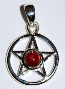 Small Garnet Pentagram Pendant