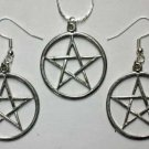Pentacle: Necklace & Earring Set