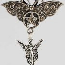 Butterfly and Fairy Pentagram Pendant