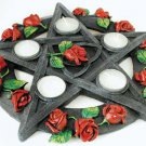 Rose Pentagram tealight holder