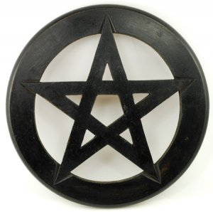 Pentagram Wall Hanging and Altar Tile 12""