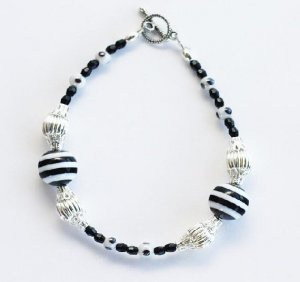 Not Everythings Black & White Bracelet